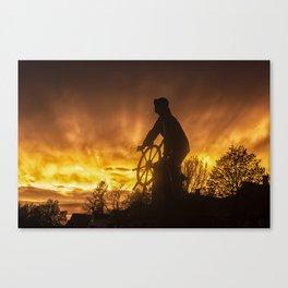 Fisherman's Memorial Sunset Canvas Print