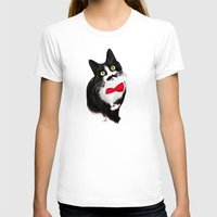 muppet T-shirts featuring Muppet the Moustached Cat by EggsBFF