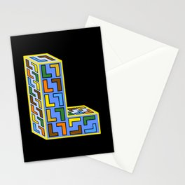 Letter L Filled With Little Ls Stationery Cards