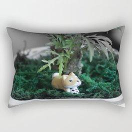 Shiba Inu Jungle 2 Rectangular Pillow
