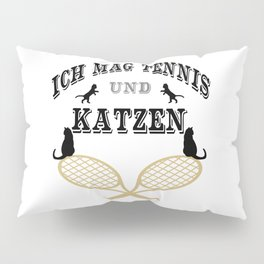 I Like Tennis And Cats Sport Design Cool Funny Pillow Sham