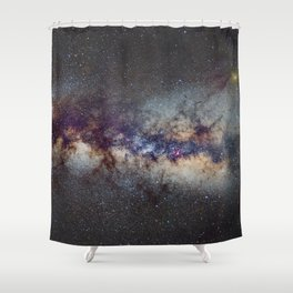 The Milky Way: from Scorpio, Antares and Sagitarius to Scutum and Cygnus Shower Curtain