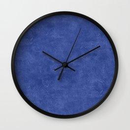 Deep Ultramarine Oil Pastel Color Accent Wall Clock