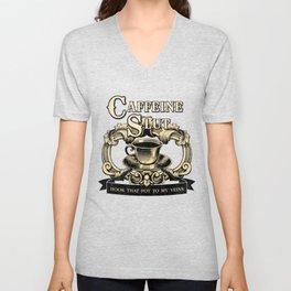 For the love of Caffeine Unisex V-Neck