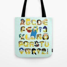Simpsons Alphabet Tote Bag