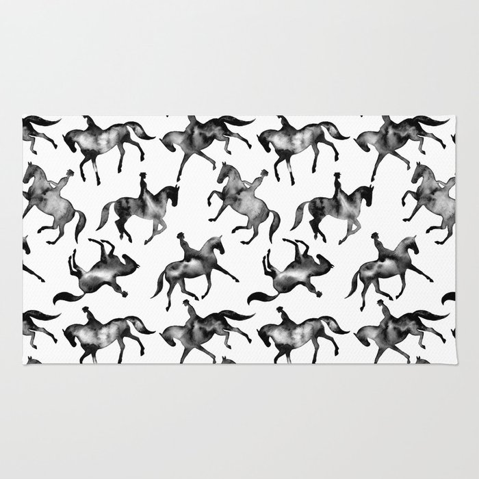 Dressage Horse Silhouettes Rug