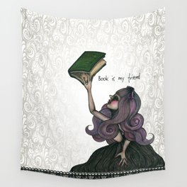 Book is my friend Wall Tapestry