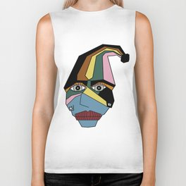 Woman in Hat Biker Tank