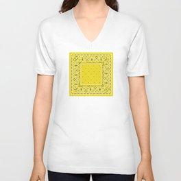 Perfect Yellow Bandana Unisex V-Neck