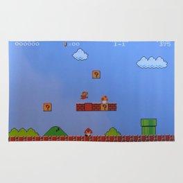 Mario Likes A Mushroom Rug