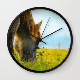 Horse longing Wall Clock