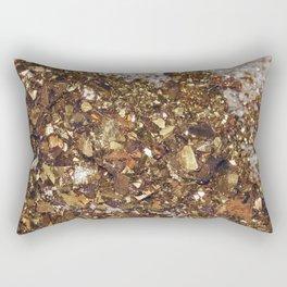 Champagne & Gold Rectangular Pillow