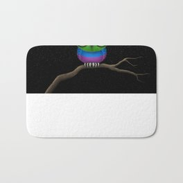 Baby Owl with Glasses and Gay Pride Rainbow Flag Bath Mat
