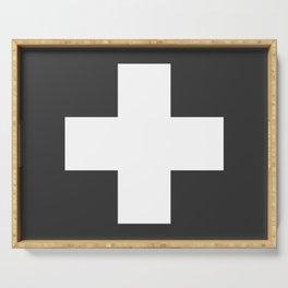 Swiss Cross Charcoal Serving Tray