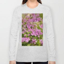 Phlox subulata pink flowering Long Sleeve T-shirt