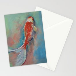 Pearl Banded Koi Stationery Cards