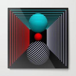 liking geometry -5- Metal Print