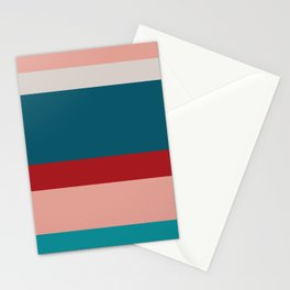 An astonishing integration of Rouge, Pastel Pink, Pastel Gray, Dark Cyan and Philippine Indigo stripes. Stationery Cards