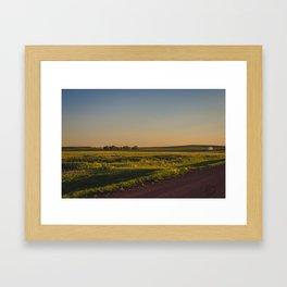 Late July, Golden Valley County, North Dakota Framed Art Print
