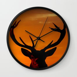 Highland Stag Wall Clock
