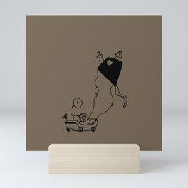 I am Kite - Birch brown Mini Art Print