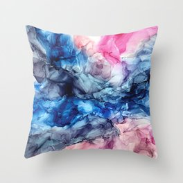 Soul Explosion- vibrant abstract fluid art painting Throw Pillow