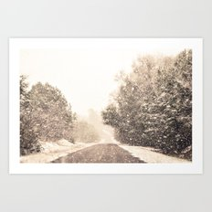 Winter Paradise Art Print