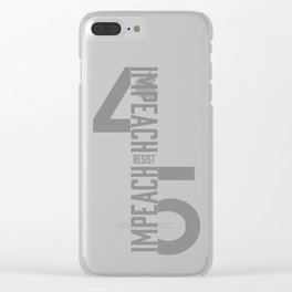 RESIST / IMPEACH 45 Clear iPhone Case