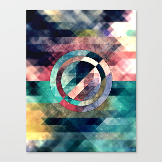 Colorful Grunge Geometric Abstract Canvas Print