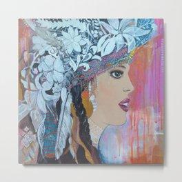 New Headdress Beauty Metal Print