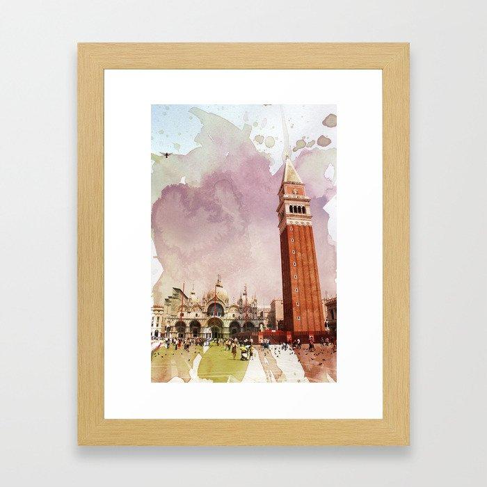 the Piazza Framed Art Print