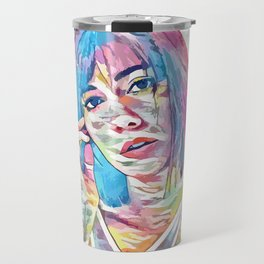 Elizabeth Winstead (Creative Illustration Art) Travel Mug