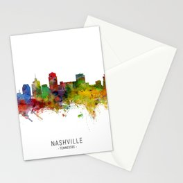 Nashville Tennessee Skyline Stationery Cards