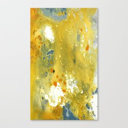 Abstract Acrylic Painting YELLOW Canvas Print