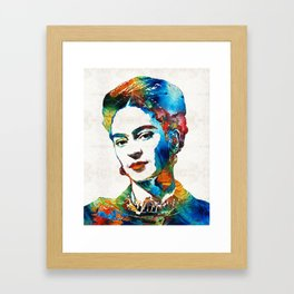 Frida Kahlo Art - Viva La Frida - By Sharon Cummings Framed Art Print