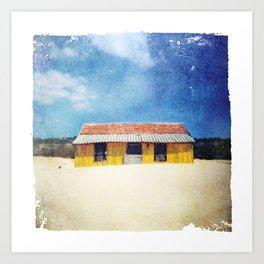 Yellow House - Costa de Caparica Art Print