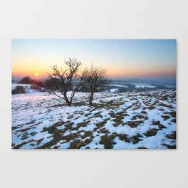 Winter in the Chilterns Canvas Print