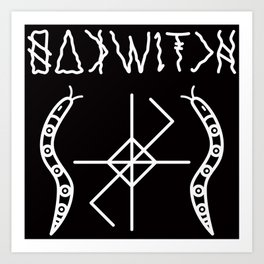 OAK WITCH BLACK SERPENT SIGIL Art Print