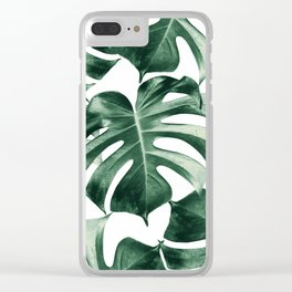 Tropical Monstera Leaves Dream #2 #tropical #decor #art #society6 Clear iPhone Case