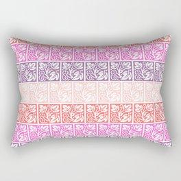 Floral Pastel Color Pattern Rectangular Pillow