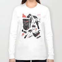 ghostbusters Long Sleeve T-shirts featuring Artifacts: Ghostbusters by Josh Ln