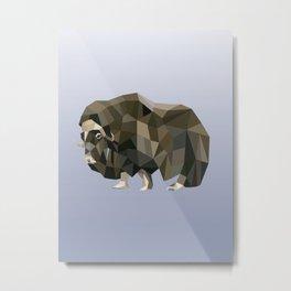 Geometric Yak Metal Print