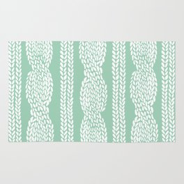 Cable Mint Rug