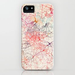 High Point map North Carolina painting iPhone Case