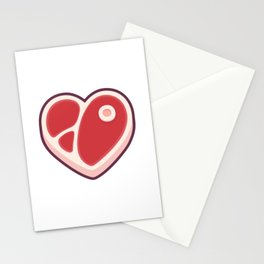 Heart shaped steak Stationery Cards