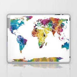 Geometric World Map Laptop & iPad Skin