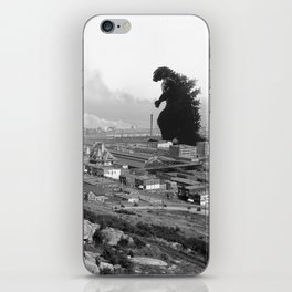 Old Time Godzilla iPhone Skin