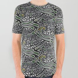Celtic Birds Knot Work 3D All Over Graphic Tee