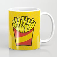 french fries Mugs featuring French Fries by Sifis