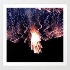 Cloud of fire Art Print